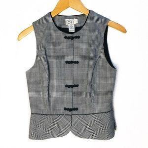 Vintage LOFT Heirloom black white Wool Vest Xxs/2
